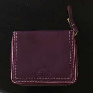 Coach purple zip wallet